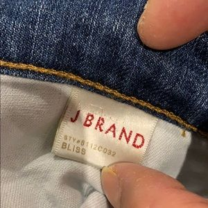 """J BRAND """"Bliss"""" straight denim jeans"""